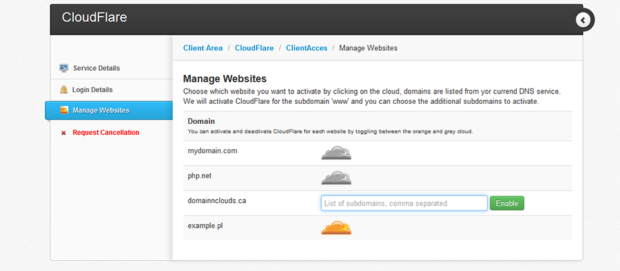 CloudFlare | HostBill | Billing & Automation Software for