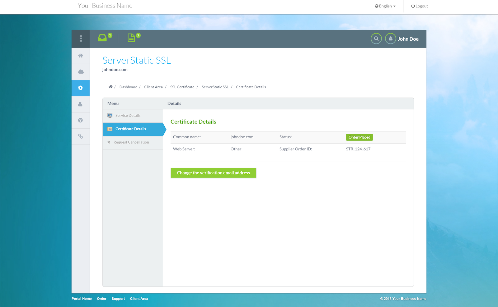 Servertastic Ssl Hostbill Billing Automation Software For Webhosts