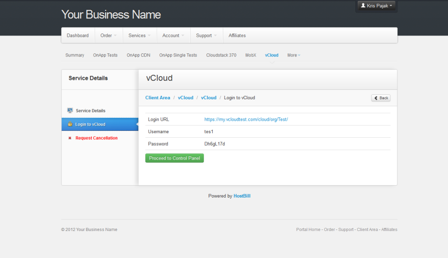 VMware vCloud Director | HostBill | Billing & Automation Software