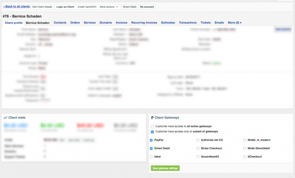 Gateway per client