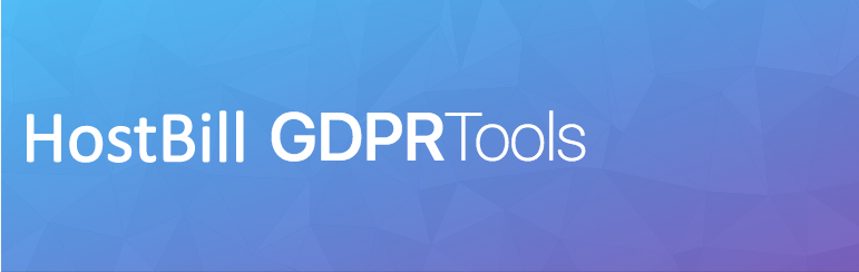 HostBill GDPR tools