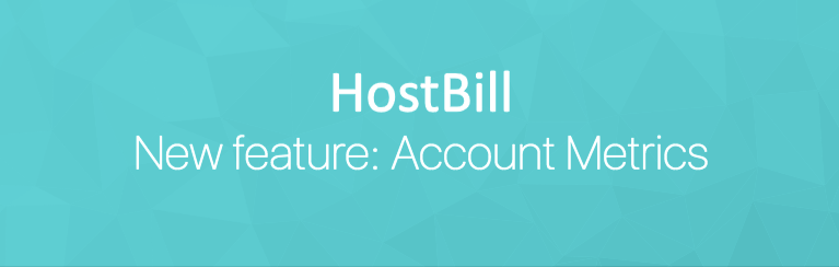 HostBill Account Metrics feature