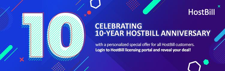 HostBill anniversary
