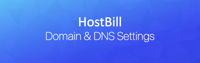 Domain and DNS settings
